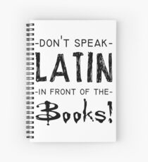 latin and books Spiral Notebook