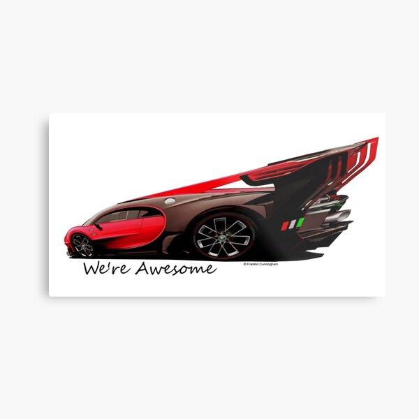 Super Car Art #14 We're Awesome  Metal Print