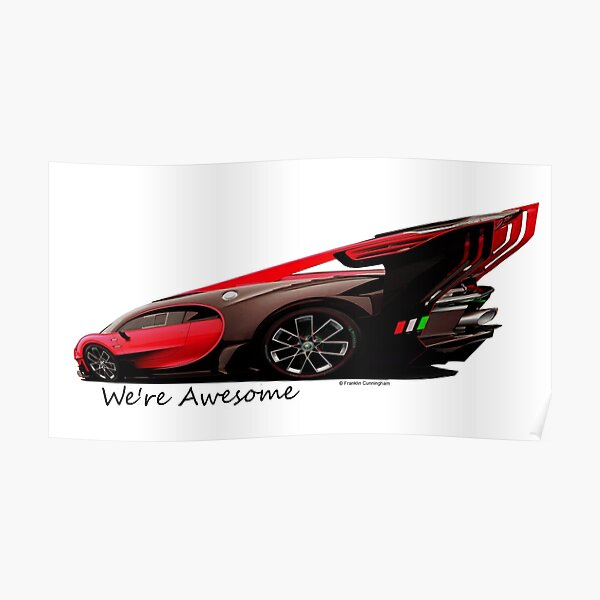 Super Car Art #14 We're Awesome  Poster