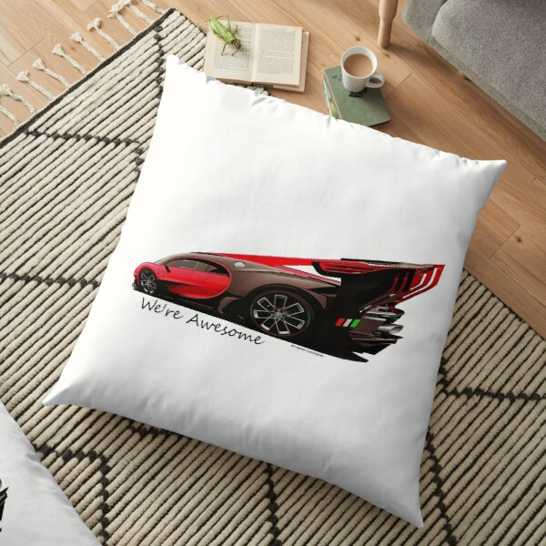 Super Car Art #14 We're Awesome  Floor Pillow