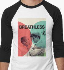 """""""BREATHLESS"""" by Jean Luc Godard w/ Jean Seberg and Jean-Paul Belmondo Men's Baseball ¾ T-Shirt"""