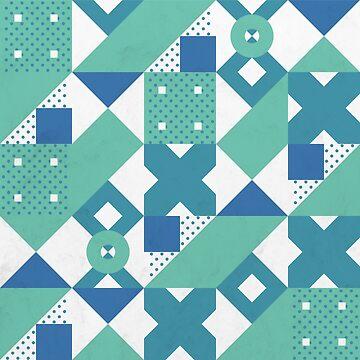 Geometric Acqua Dots by tobiasfonseca