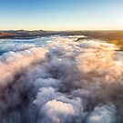 Panoramic view above Lake Jindabyne  by Alex Lau