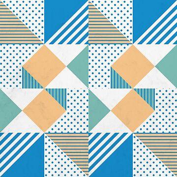 Geometric Polka Dots Petit Pois Cream by tobiasfonseca