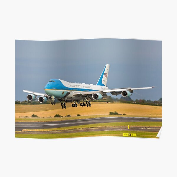 Air Force One B747 Poster