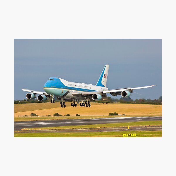 Air Force One B747 Photographic Print