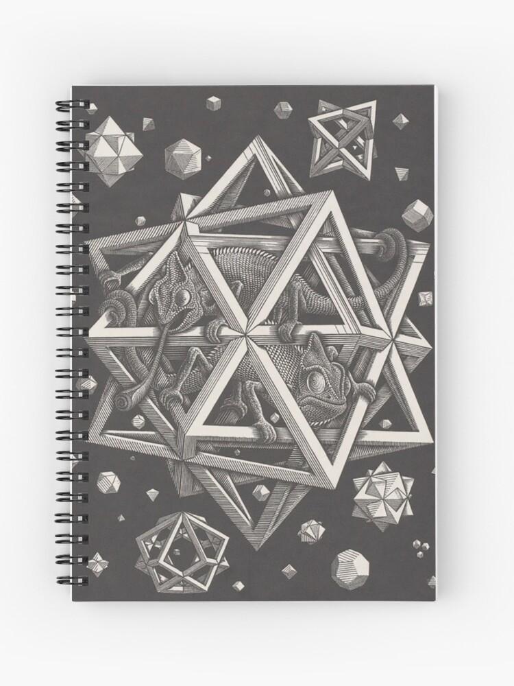 Mc Escher Geometrical Painting Spiral Notebook