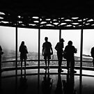 B & W Silhouettes in Burj Khalifa at Sunset - Dubai by Yannik Hay