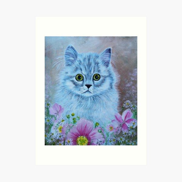 Kitten in Garden Art Print