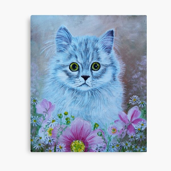 Kitten in Garden Canvas Print