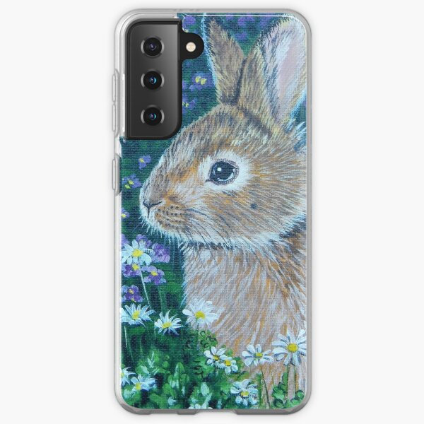 Bunny with Flowers Samsung Galaxy Soft Case