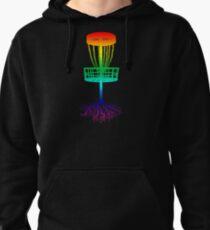Disc Golf Rainbow Frolf Pullover Hoodie