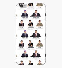 Vinilo o funda para iPhone Las caras de Michael Scott