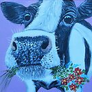 Fresian Cow with Flowers by Karen Scott