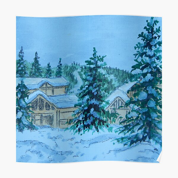 Canadian Snow Scene 2 Poster