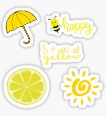Yellow Sticker Bundle Sticker