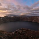 Quilotoa At Sunset by Ryan + Corinne Priest