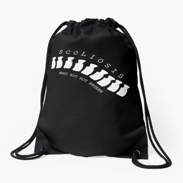 Cool Bent Not Broken Scoliosis Awareness Survivor T-Shirt Drawstring Bag