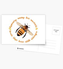 "Busy Little Bee - ""Honey May Be Sweet, But the Bee Still Stings"" Postcards"