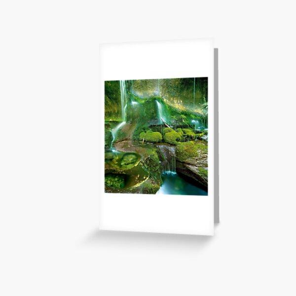 Mossy cascades, Walls of Jerusalem Greeting Card