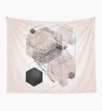 Blush and Grey Geometric Wall Tapestry