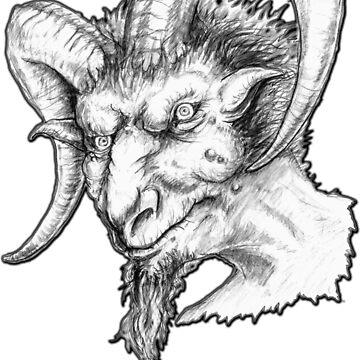 Goatman - cryptid, cryptozoology, bigfoot, creature, creepy, weird, paranormal, monster by AltrusianGrace