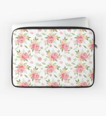 Peach and Pink Peony Pattern  Laptop Sleeve