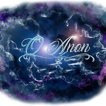 QAnon Shades Of Purple Storm Cloud   by TrumpQAnon