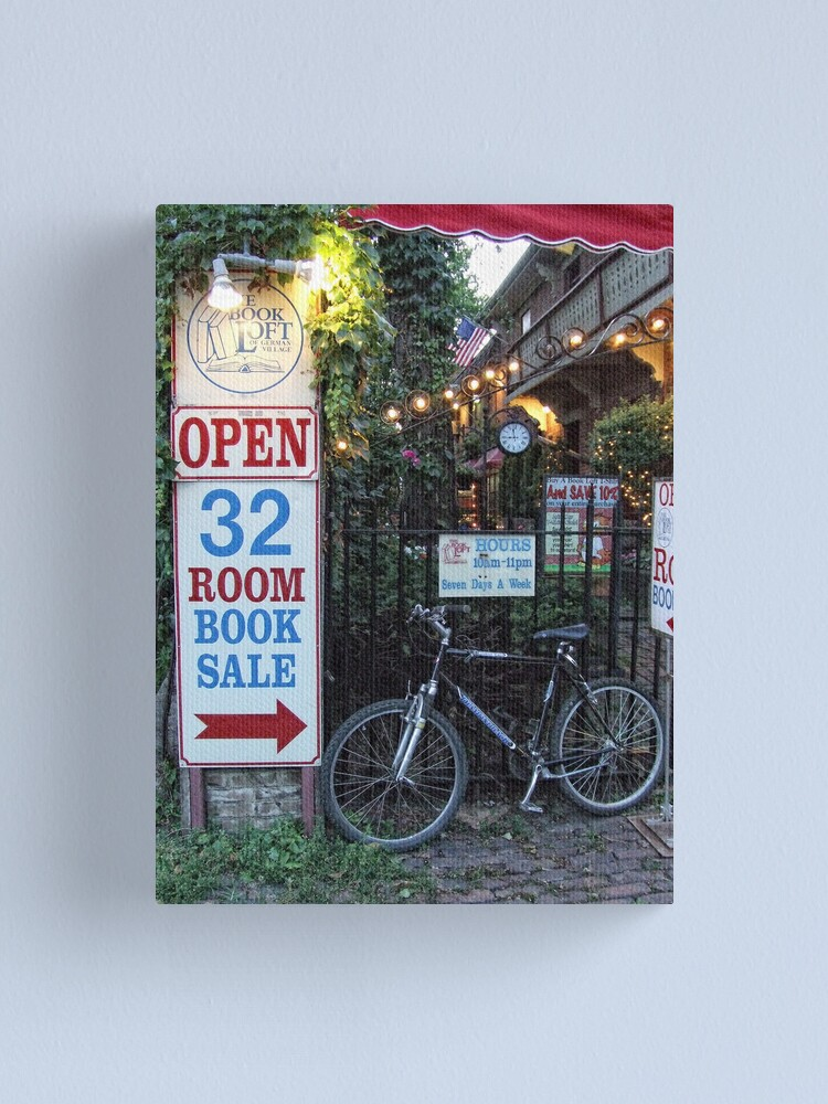 Alternate view of Bicycle at the Book Loft Canvas Print