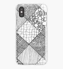 Random Diamond Grid Patterns iPhone Case