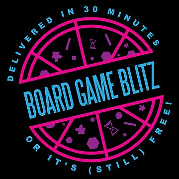 Retro Board Game Blitz Pizza Logo by boardgameblitz
