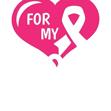 Breast Cancer T-Shirt - For My Mom Pink Ribbon by mikevdv2001