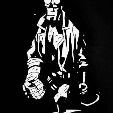 Hellboy Black and White 2 by Oclibertine