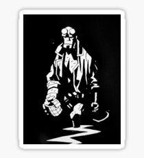 Hellboy Black and White 2 Sticker