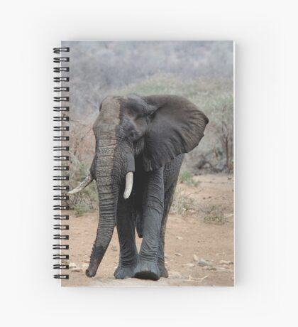 THE LONELY BUL -  THE AFRICAN ELEPHANT – Loxodonta africana Spiral Notebook