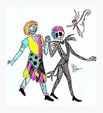 Joan and Tayln, Jack and Sally- Ink Photographic Print