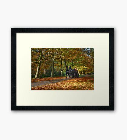 Autumn Ride Framed Print