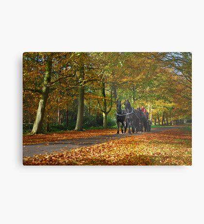 Autumn Ride Metal Print