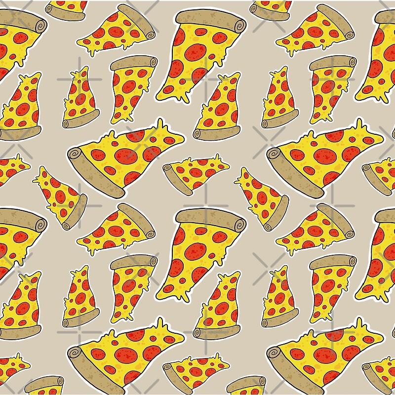 pizza pattern  scarves