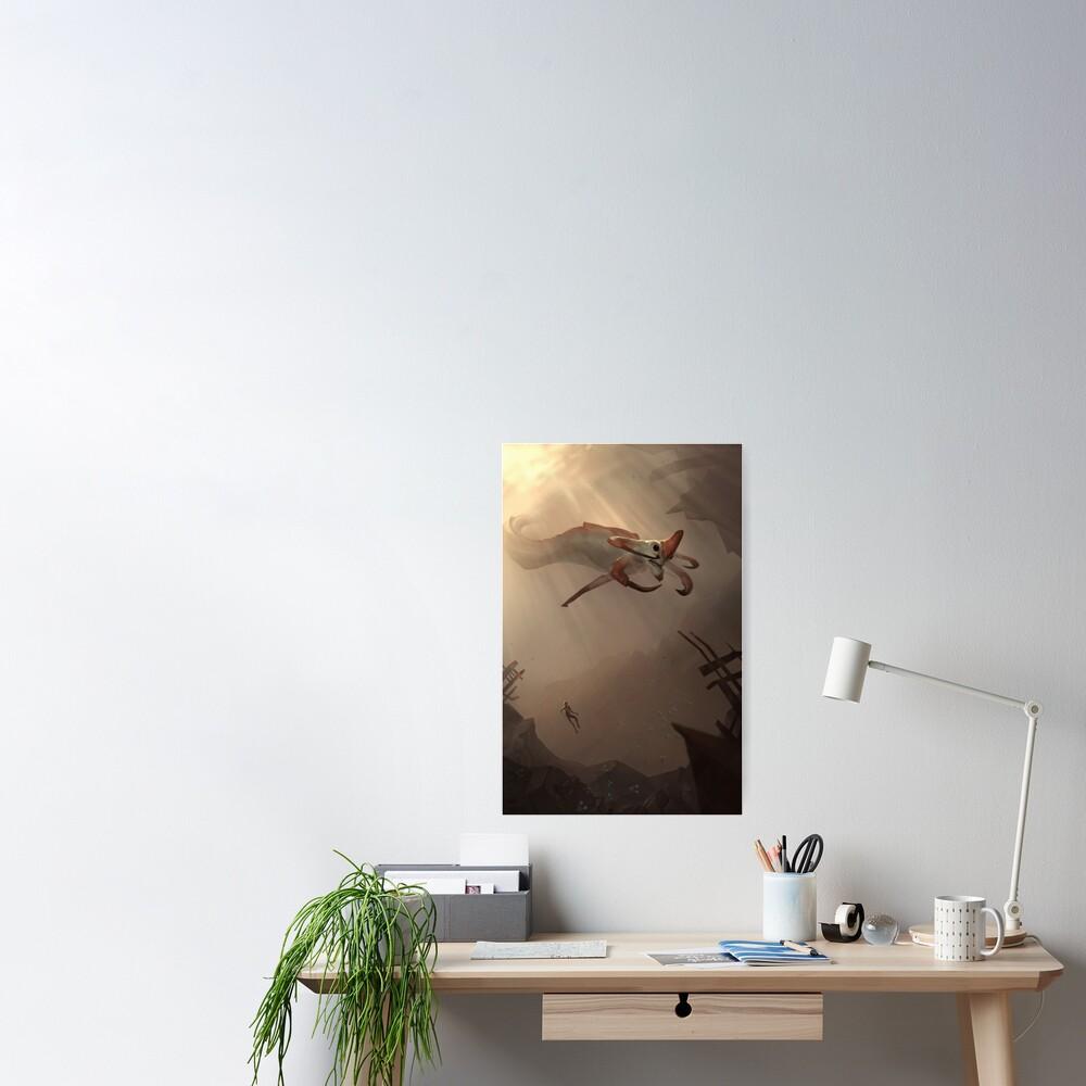 Subnautica - Reaper Leviathan Poster