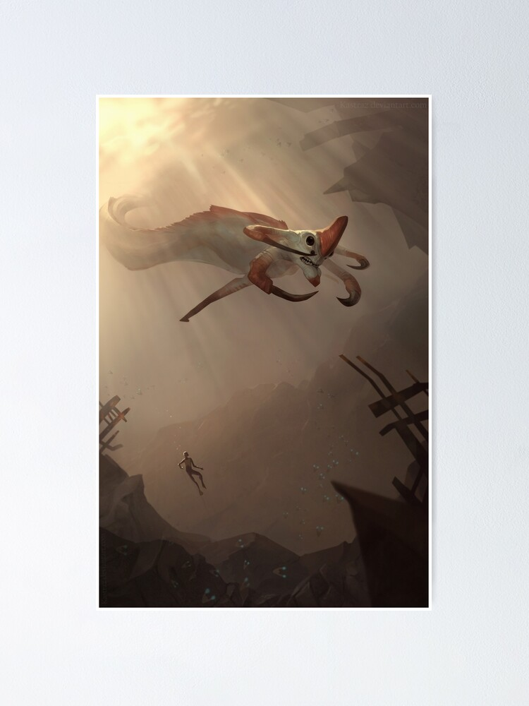 Alternate view of Subnautica - Reaper Leviathan Poster