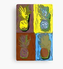 POP ART PINEAPPLES | FENCE ART-BY JANE HOLLOWAY Metal Print