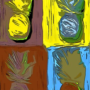 POP ART PINEAPPLES | FENCE ART-BY JANE HOLLOWAY by cradox