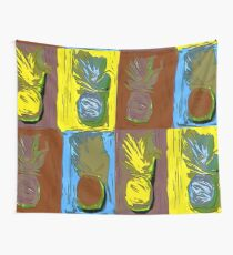 POP ART PINEAPPLES | FENCE ART-BY JANE HOLLOWAY Wall Tapestry