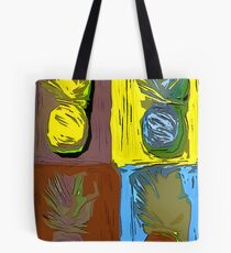 POP ART PINEAPPLES   FENCE ART-BY JANE HOLLOWAY Tote Bag