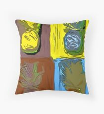 POP ART PINEAPPLES | FENCE ART-BY JANE HOLLOWAY Throw Pillow