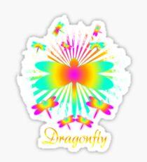 Cute Unique Rainbow Trendy Dragonfly Gift  Sticker