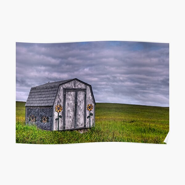 Sunflowers and Farm Fields Poster