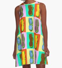 LIMITED EDITION PINEAPPLE POP ART -THE FAB  4- JANE HOLLOWAY  A-Line Dress
