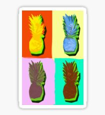 LIMITED EDITION PINEAPPLE POP ART -THE FAB  4- JANE HOLLOWAY  Sticker
